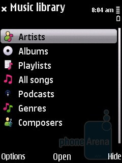 The Audio player of the Nokia 5730 XpressMusic - Nokia 5730 XpressMusic Review