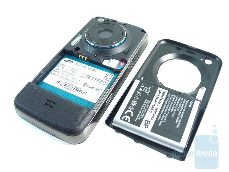Battery and SIM card slots - Samsung Pixon12 M8910 Review
