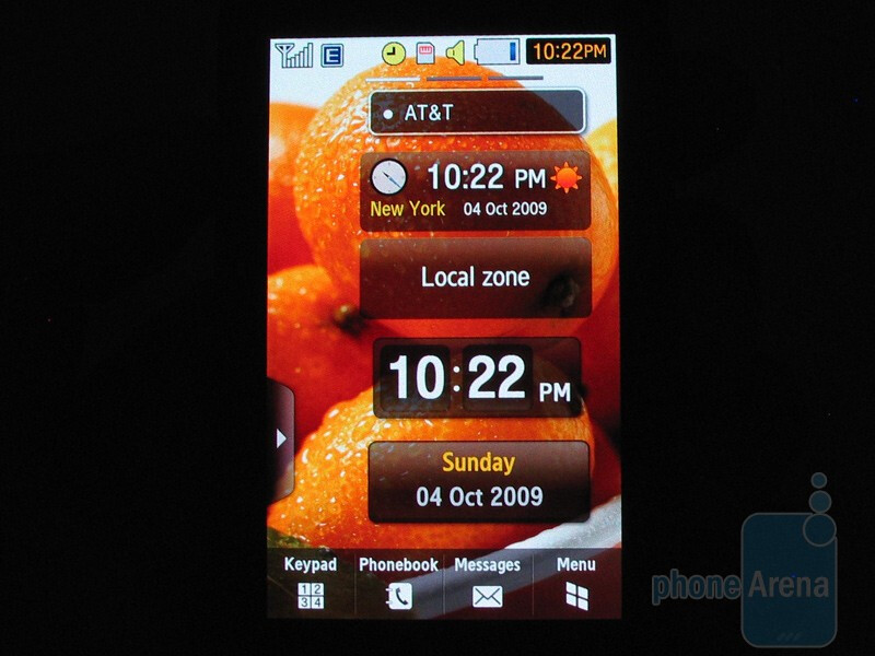 """The 3.1"""" resistive AMOLED touch screen - Samsung Pixon12 M8910 Review"""