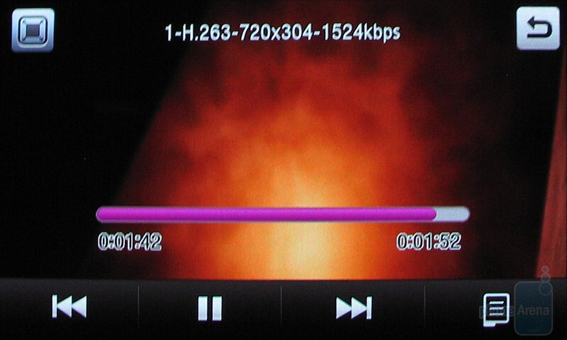 Playing videos in landscape mode on the Samsung Pixon12 M8910 - Samsung Pixon12 M8910 Review