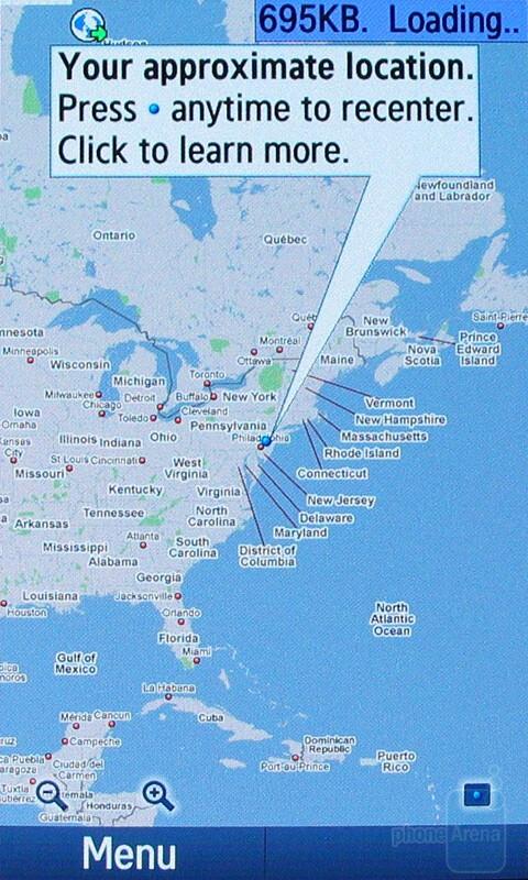 Google Maps - Samsung Pixon12 M8910 Review
