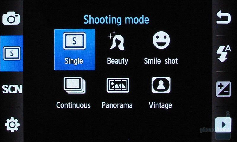 Camera interface - Samsung Pixon12 M8910 Review