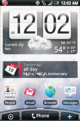 The HTC Hero CDMA has Sense UI with 7 customized home screens - HTC Hero CDMA Review