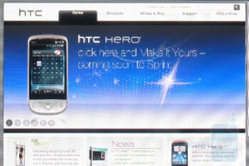 The browser is Webkit based and similar in scope to Mobile Safari and the webOS browser - HTC Hero CDMA Review