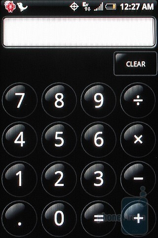 Clock app and Calculator - HTC Hero CDMA Review