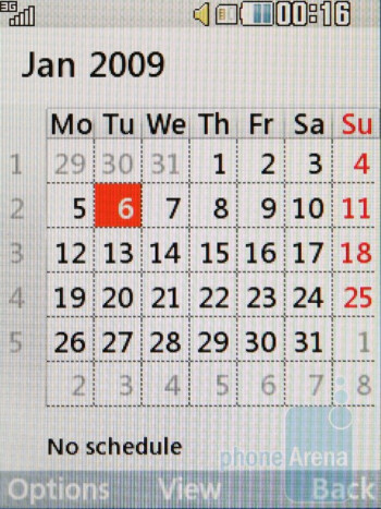 Calendar - LG New Chocolate BL20 Review