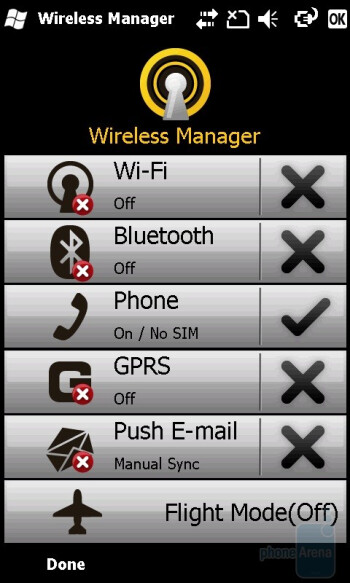 Wireless Manager - GIGA-BYTE GSmart S1200 Review