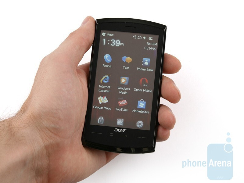 Acer neoTouch S200 has a conservative and austere look - Acer neoTouch S200 Review