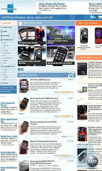 Browsing the Internet - Acer neoTouch S200 Review