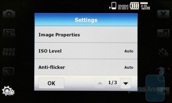 Camera interface of the Acer neoTouch S200 - Acer neoTouch S200 Review