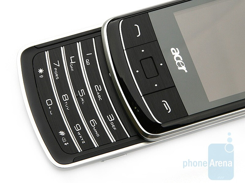 The numeric keypad - Acer beTouch E200 Review