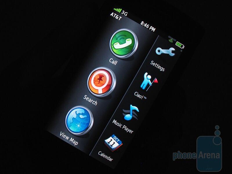 "The 3.55"" resistive LCD screen of the Garmin nuvifone G60 - Garmin nuvifone G60 Review"