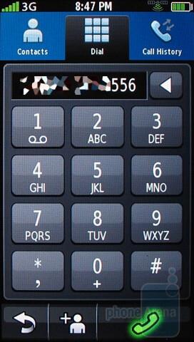 Phonebook of the Garmin nuvifone G60 - Garmin nuvifone G60 Review