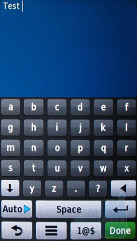 The ABC-arranged keyboard - Messaging with the Garmin nuvifone G60 - Garmin nuvifone G60 Review