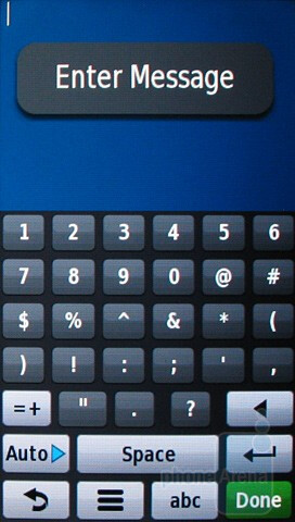 Numeric keyboard - Messaging with the Garmin nuvifone G60 - Garmin nuvifone G60 Review
