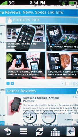 Browsing the net with Garmin nuvifone G60 - Garmin nuvifone G60 Review
