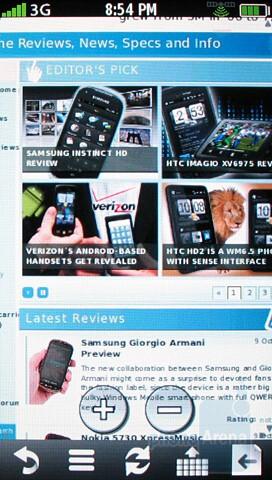 Browsing the net with Garmin nuvifone G60 - Garmin nuvifone G60 Review