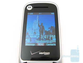 The internal display - Motorola Entice W766 Review