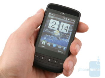 The HTC Touch2 has slightly round shape and fascinating color - HTC Touch2 Review