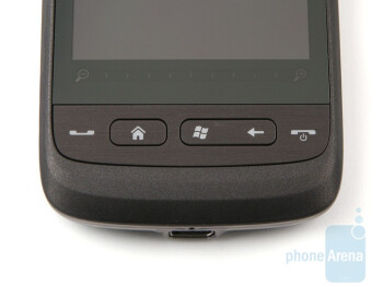 The hardware buttons of the HTC Touch2 didn`t give us any trobles - HTC Touch2 Review