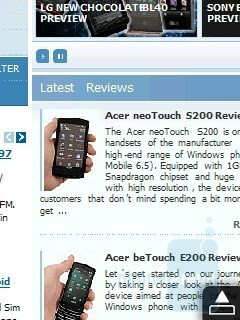 Opera Mobile - HTC Touch2 Review