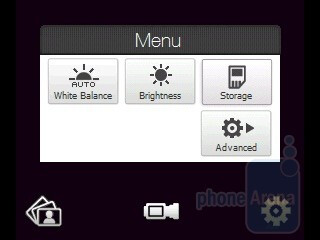 The video capture options - The camera interface - HTC Touch2 Review