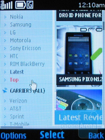 Browsing the Internet - Nokia 6750 Mural Review