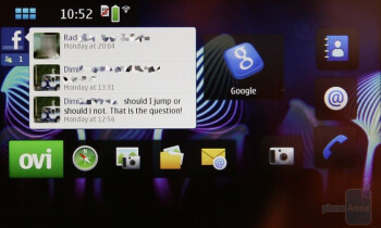 The 4 pages of the home screen of the Nokia N900 - Nokia N900 Preview