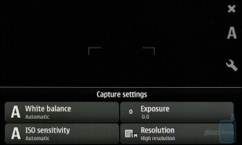 Camera interface - Nokia N900 Preview