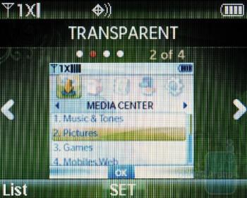 The main menu of the Verizon Wireless Razzle hasn't changed - Verizon Wireless Razzle Review