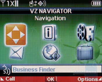 Mobile Web and VZNavigator - Verizon Wireless Razzle Review