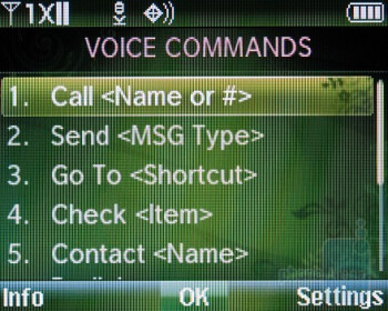 Voice commands - Verizon Wireless Razzle Review