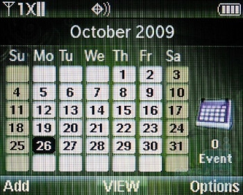 Calendar - Verizon Wireless Razzle Review