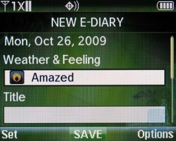 E-Diary - Verizon Wireless Razzle Review