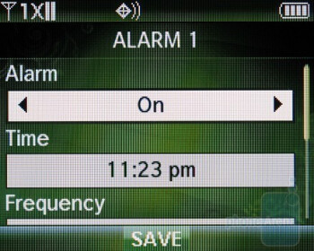 Alarms - Verizon Wireless Razzle Review