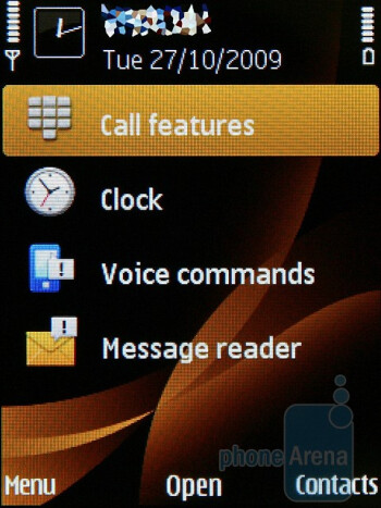 Talking stand-by screen - The Nokia 6760 slide runs with Symbian S60 3rd Edition operating system - Nokia 6760 slide Review