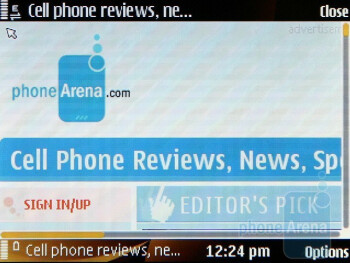 The built-in Symbian browser is really comfy, snappy and allows watching of Flash Videos - Nokia 6760 slide Review