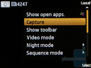 The camera interface - Nokia 6760 slide Review