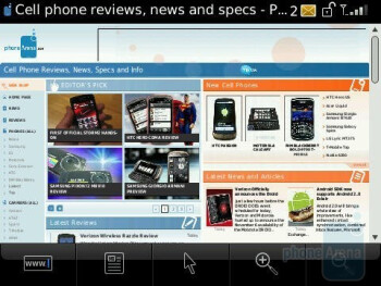 The browser of the RIM BlackBerry Storm2 9550 has been reworked to give faster load times - RIM BlackBerry Storm2 9550 Review