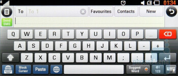 The QWERTY keyboard is extremely handy - LG New Chocolate BL40 Review