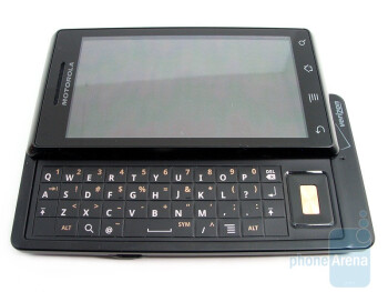 The buttons of the Motorola DROID are flush with the surface allowing for the streamlined look - Motorola DROID Review