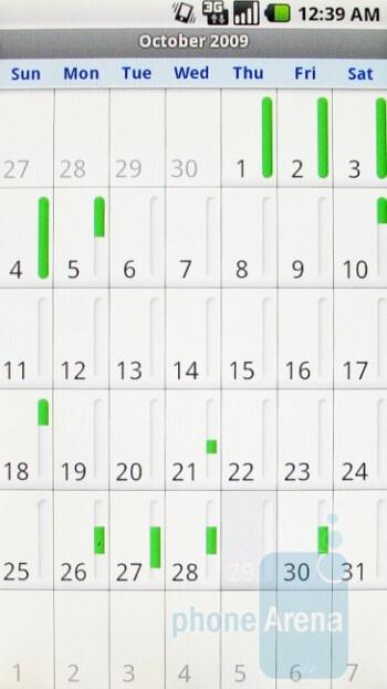 The calendar - Motorola DROID Review