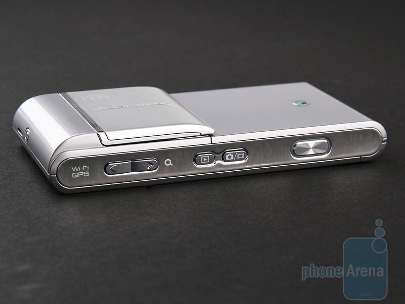 The 12-megapixel camera with xenon flash is hidden on the back of  Sony Ericsson Satio - Sony Ericsson Satio Review