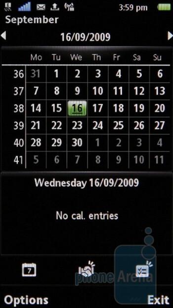 Calendar - Sony Ericsson Satio Review