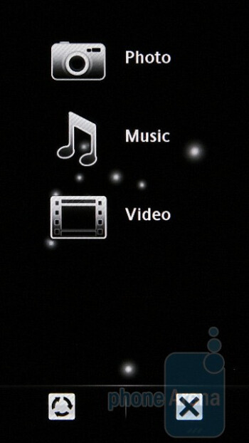 Multimedia menu - Sony Ericsson Satio Review