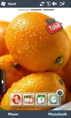 Home screen - Samsung OmniaLITE B7300 Review