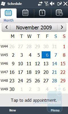 Calendar - Samsung OmniaLITE B7300 Review