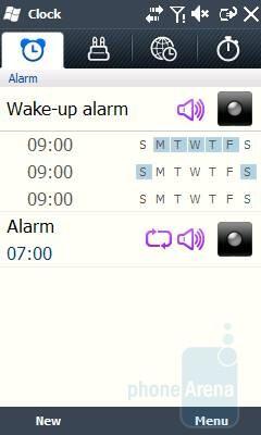 Alarm - Samsung OmniaLITE B7300 Review