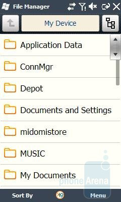 File Manager - Samsung OmniaLITE B7300 Review