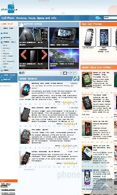 Opera Mobile - Surfing the internet with the Samsung OmniaLITE B7300 - Samsung OmniaLITE B7300 Review